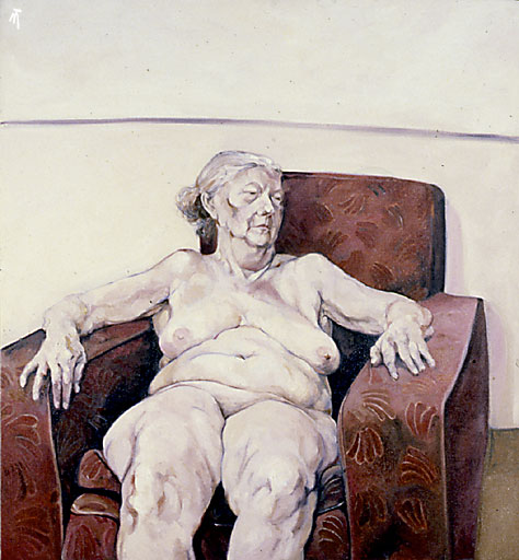 Nude portrait: Large Woman
