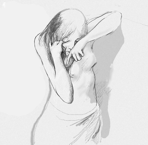 Photoshop drawing: Girl sketch
